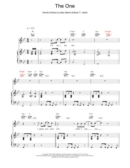 Download Digital Sheet Music of the backstreet boys for Piano, Vocal ...