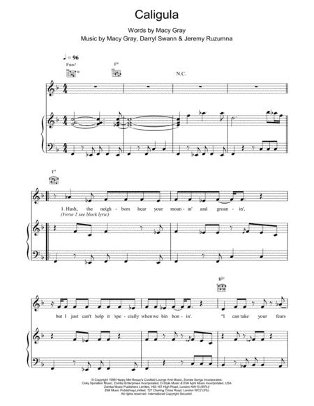 Buy Piano Vocal And Guitar Macy Gray Sheet Music Books And Downloads