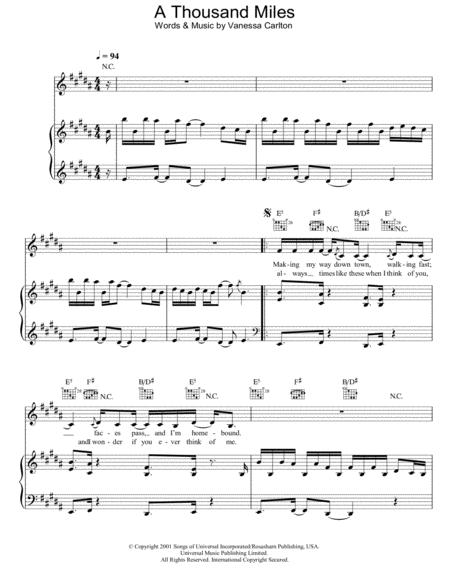 Vanessa Carlton sheet music to download and print - World center of ...