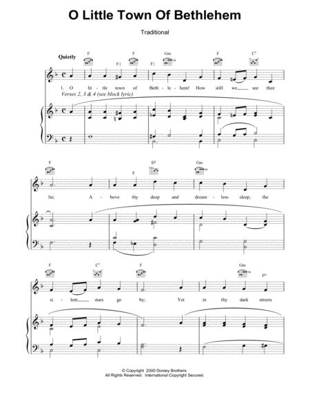 Download Digital Sheet Music Of O Little Town Of Bethlehem For Piano