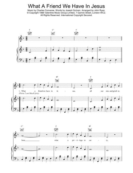 Download Digital Sheet Music of What a friend we have in Jesus for ...