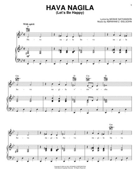 Hava nagila sheet music to download and print - World center of ...