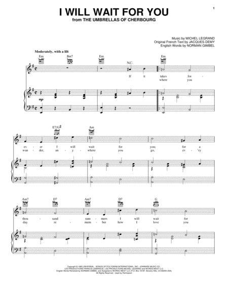 Download Michel Legrand Digital Sheet Music And Tabs