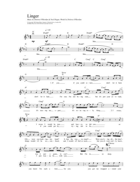 Buy The Cranberries Sheet music, Tablature books, scores