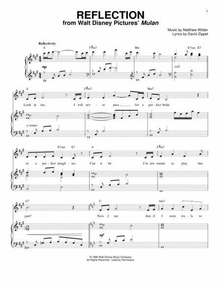 David Zippel and Mulan (Movie) sheet music to download and print ...