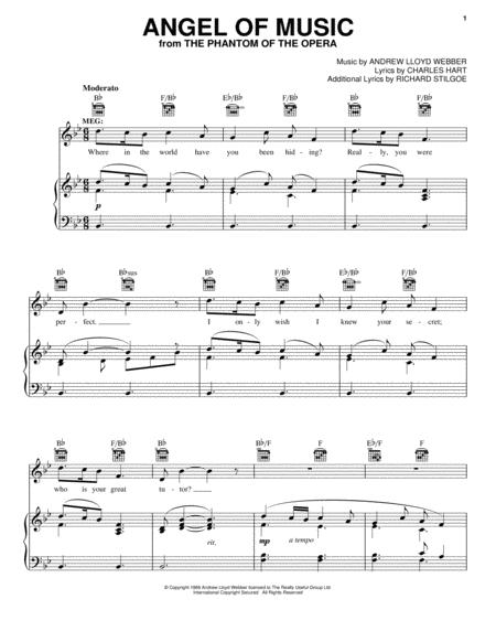Phantom Of The Opera Piano, Voice sheet music to download and print ...