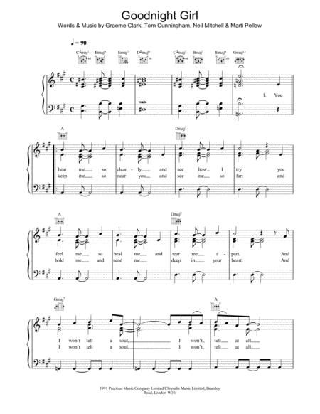 Wet, Wet Wet sheet music to download and print - World center of ...