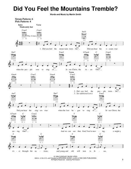 sing to the mountains sheet music pdf