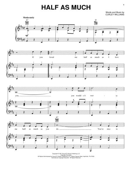 Patsy Cline and Hank Williams sheet music to download and print ...
