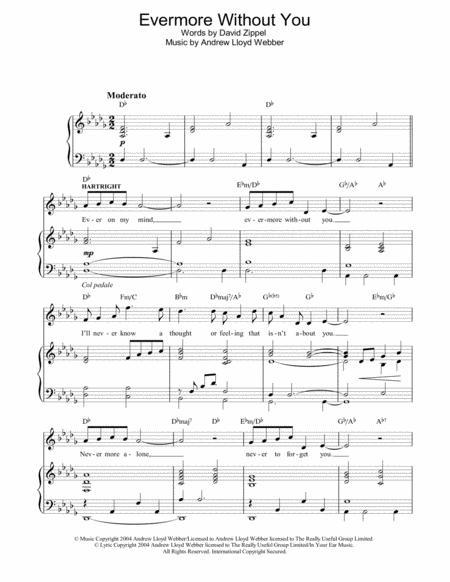 evermore vocal sheet music free pdf