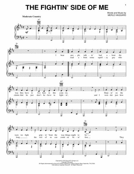 Download Digital Sheet Music Of Merle Haggard For Piano Vocal And