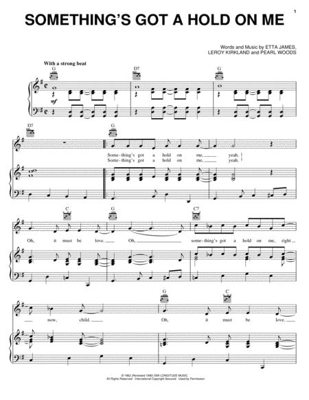 Download Digital Sheet Music of Etta James for Piano, Vocal and Guitar