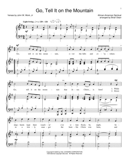 Download Digital Sheet Music of Go tell it on the mountain for Piano ...