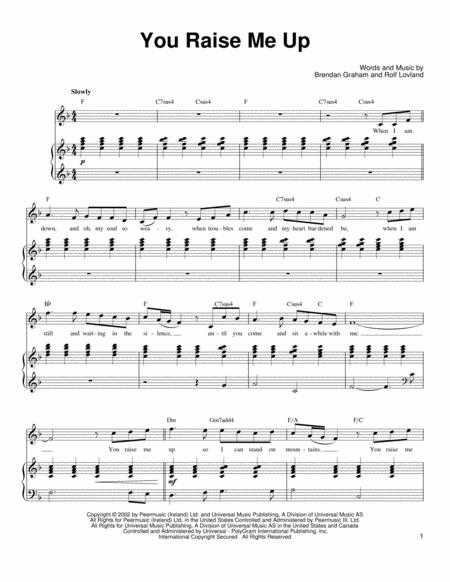 Download Digital Sheet Music of Secret garden for Piano, Vocal and ...