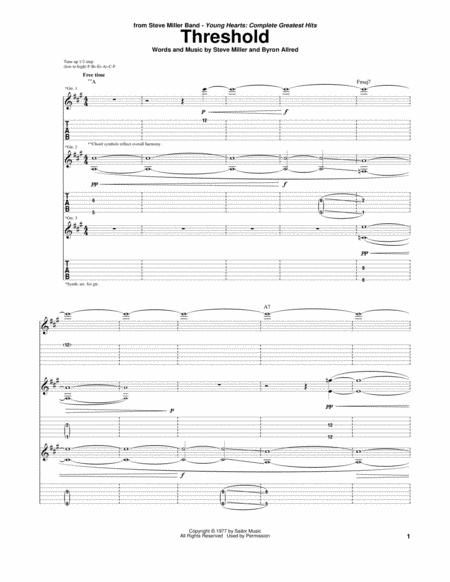 The Steve Miller Band Sheet Music To Download And Print World