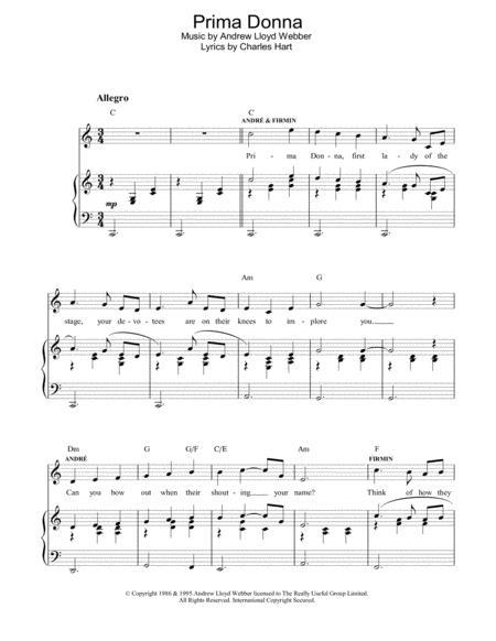 Download Digital Sheet Music Of Andrew Lloyd Webber And The Phantom