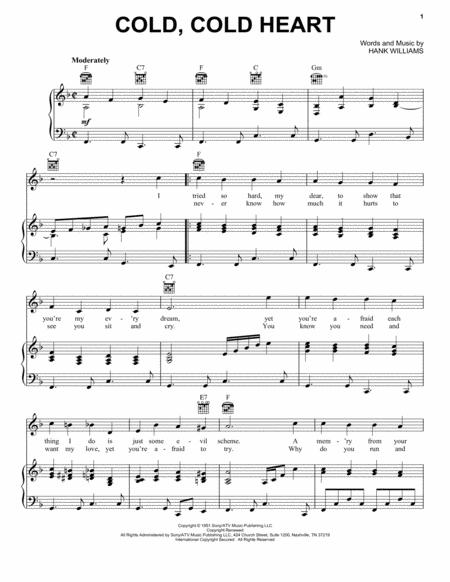 Download Digital Sheet Music of Jones Hank for Piano, Vocal and Guitar