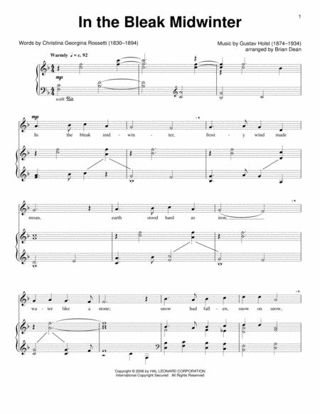Download Digital Sheet Music Of Gustav Holst For Piano Vocal And Guitar