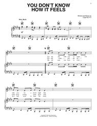 You Don't Know How It Feels sheet music