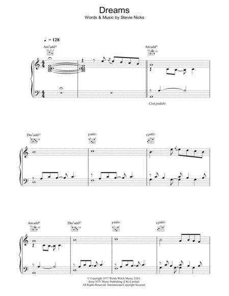 Download Digital Sheet Music of The Fleetwood Mac for Piano, Vocal ...