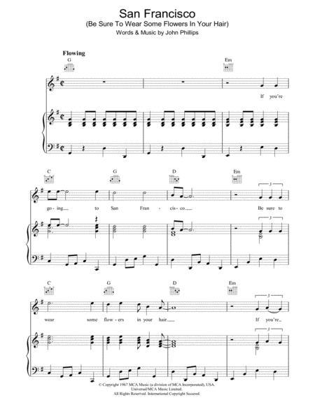 Scott Mckenzie Sheet Music To Download And Print World Center Of