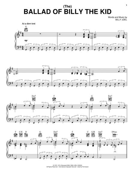Billy Joel Sheet Music To Download And Print World Center Of