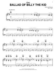 Billy Joel  Sheet Music (The) Ballad Of Billy The Kid Song Lyrics Guitar Tabs Piano Music Notes Songbook
