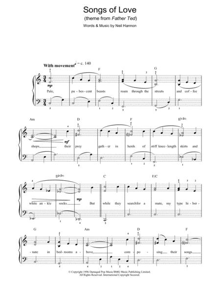 Download Digital Sheet Music of love divine for Piano, Vocal and Guitar