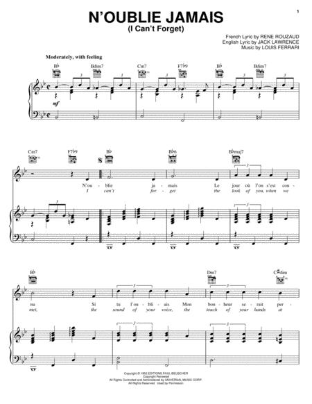 Download Digital Sheet Music of Jack Lawrence for Piano, Vocal and ...