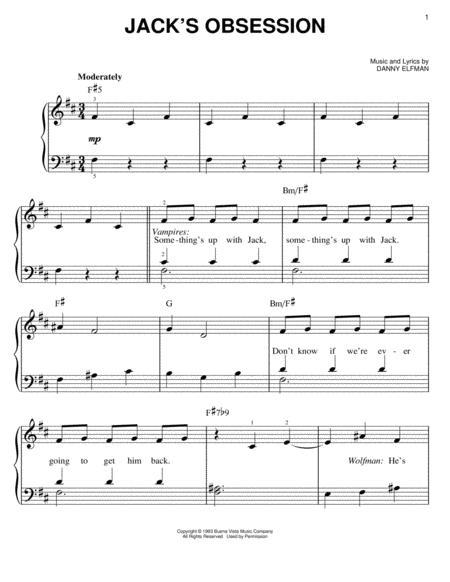 nightmare before christmas piano sheet music