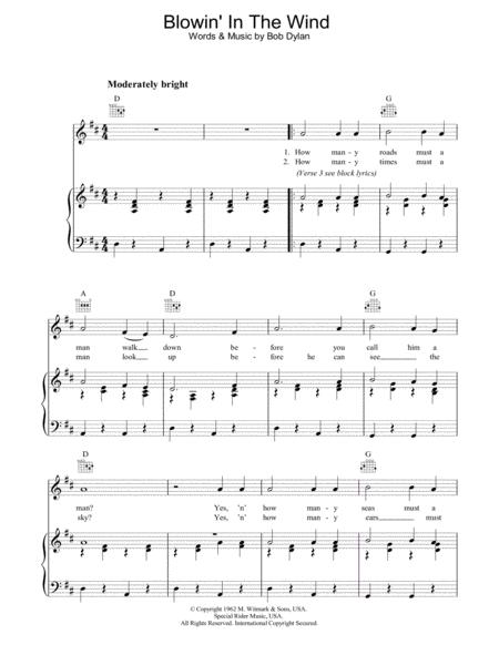 Download Digital Sheet Music of Peter, Paul & Mary for Piano, Vocal ...