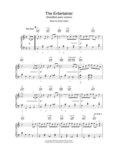 the entertainer partition piano pdf