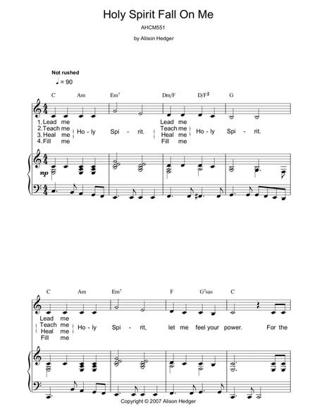Download Digital Sheet Music of holy spirit for Piano, Vocal and Guitar