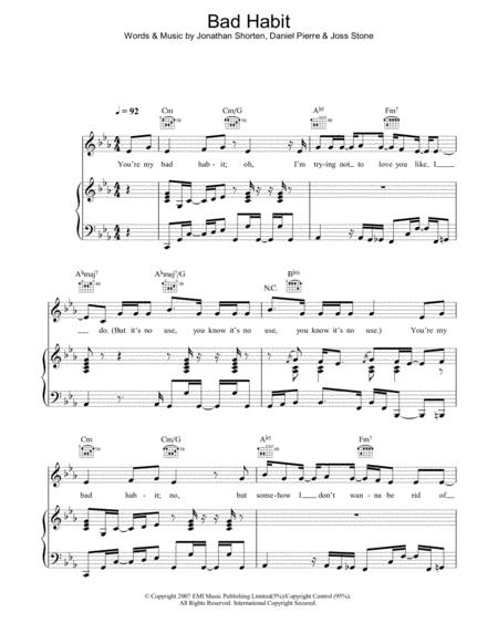 Download Digital Sheet Music of Jon Stone for Piano, Vocal and Guitar
