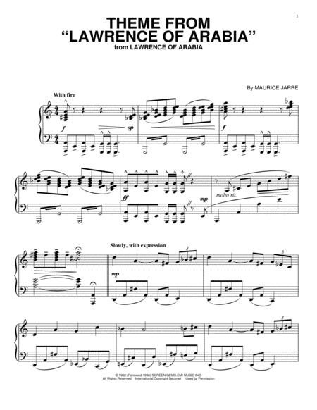 maurice jarre sheet music to download and print - World