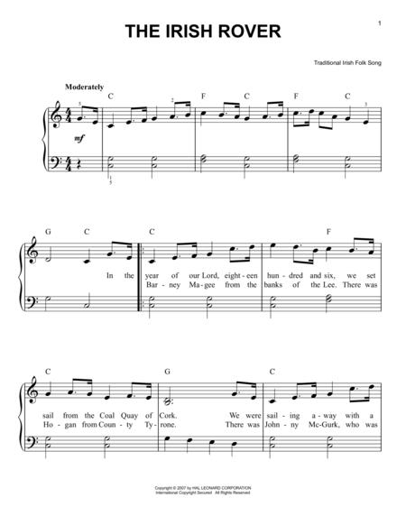 Download Digital Sheet Music of Traditional Irish Folk Song