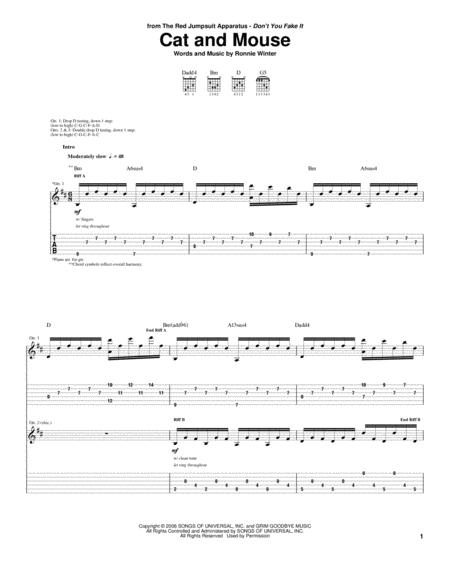 The-Red-Jumpsuit-Apparatus sheet music to download and print - World ...