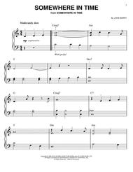 Somewhere In Time sheet music