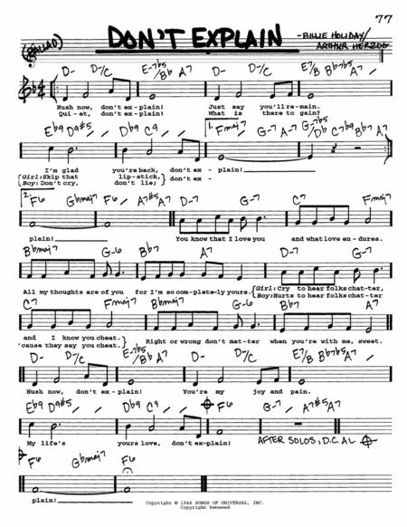 billie holiday sheet music pdf