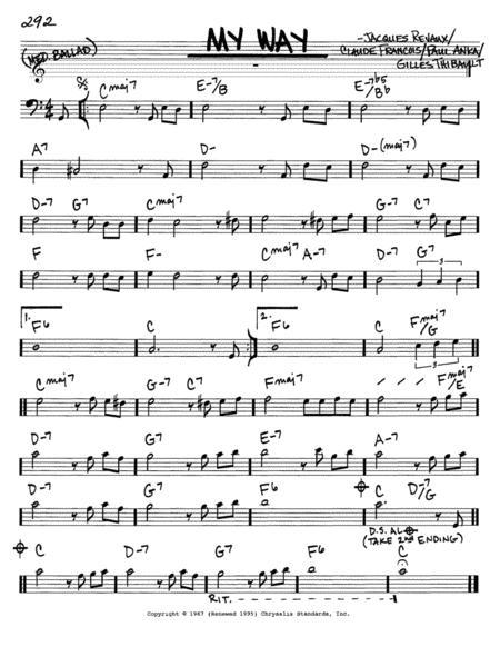 partition piano my way frank sinatra pdf