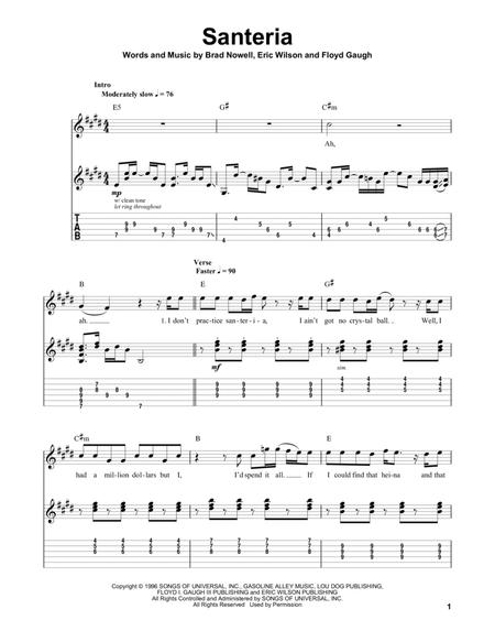 Download Digital Sheet Music of Sublime for Guitar notes and tablatures