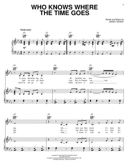 Download Digital Sheet Music Of Time Goes For Piano Voice