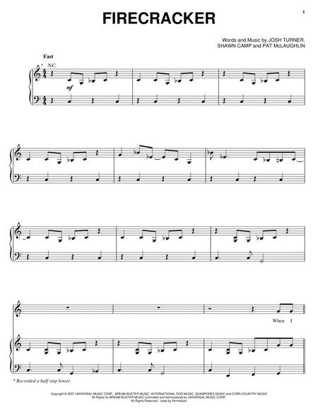 Download Digital Sheet Music Of Josh Turner For Piano Vocal And Guitar
