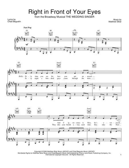 Matthew Sklar and The Wedding Singer (Musical) sheet music to ...