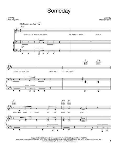 By Matthew Sklar And The Wedding Singer Musical Chad Beguelin For Piano Voice Guitar Chords Only