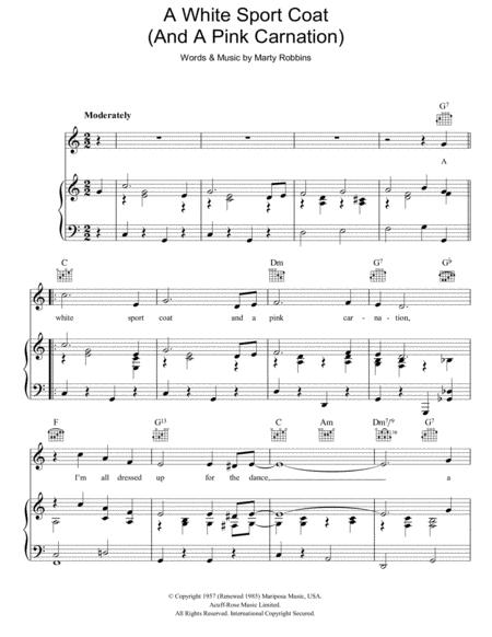Download Digital Sheet Music of marty robbins for Piano, Vocal and ...