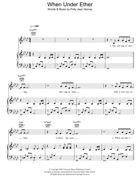 Pj Harvey Sheet Music To Download And Print World Center Of