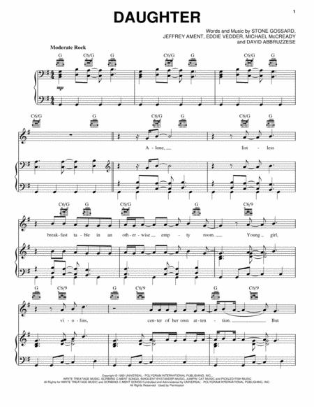 Pearl Jam sheet music to download and print - World center