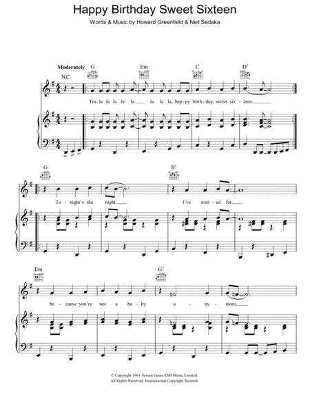 Download Digital Sheet Music of happy birthday for Piano, Vocal and ...