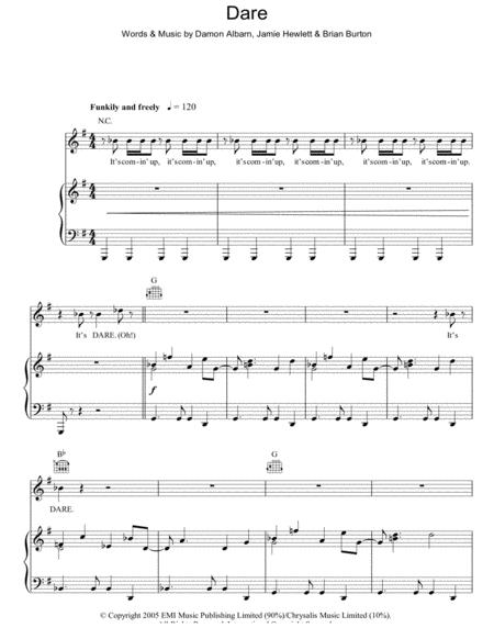Gorillaz sheet music to download and print - World center of digital ...